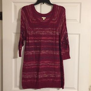 Maroon had sleeve striped light sweater